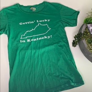 Vintage Single Stitch Gettin Lucky in Kentucky Tee